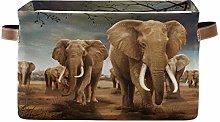 HMZXZ Rxyy Africa Wildlife Elephant Canvas Fabric