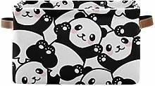 HMZXZ Rxyy Animal Cute Panda Pattern Canvas Fabric