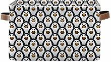 HMZXZ Rxyy Animal Penguins Pattern Canvas Fabric