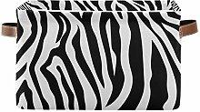 HMZXZ Rxyy Animal Zebra Skin Stripes Canvas Fabric