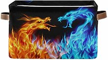 HMZXZ Rxyy Blue Red Animal Fiery Dragon Canvas