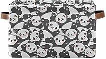 HMZXZ Rxyy Cartoon Animal Panda Pattern Canvas