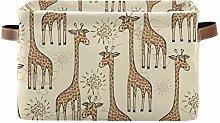 HMZXZ Rxyy Cute African Giraffe Pattern Canvas