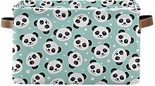 HMZXZ Rxyy Cute Animal Panda Polka Dot Canvas