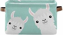 HMZXZ Rxyy Cute Llama Alpaca Animal Canvas Fabric