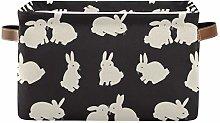 HMZXZ Rxyy Cute Rabbit Bunny Canvas Fabric Storage