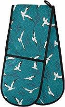 HMZXZ RXYY Double Oven Glove Bird Seagulls Pattern