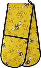 HMZXZ RXYY Double Oven Glove Cute Animal Bee Heat