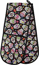 HMZXZ RXYY Double Oven Glove Day Of The Dead Sugar