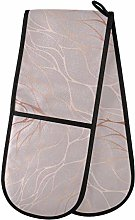 HMZXZ RXYY Double Oven Glove Rose Gold Marble