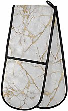 HMZXZ RXYY Double Oven Glove Texure Marble Gold