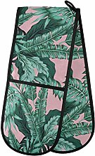 HMZXZ RXYY Double Oven Glove Tropical Green Palm