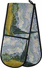 HMZXZ RXYY Double Oven Glove Van Gogh Tree Oil