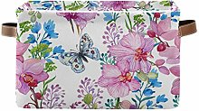 HMZXZ Rxyy Floral Flowers Butterfly Canvas Fabric
