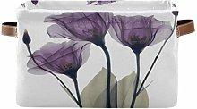 HMZXZ Rxyy Lilac Purple Floral Flower Canvas