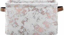 HMZXZ Rxyy Marble Rose Gold Texture Canvas Fabric
