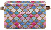 HMZXZ Rxyy Mermaid Fish Scales Canvas Fabric
