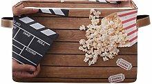 HMZXZ Rxyy Music Cinema Clapperboard Popcorn