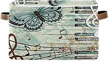 HMZXZ Rxyy Music Note Piano Key Butterfly Canvas