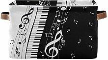 HMZXZ Rxyy Piano Keys Musical Notes Canvas Fabric