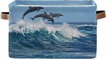 HMZXZ Rxyy Sea Dolphin Pattern Canvas Fabric
