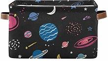 HMZXZ Rxyy Space Stars Planet Moon Pattern Canvas