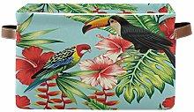 HMZXZ Rxyy Spring Bird Toucan Parrot Flower Canvas