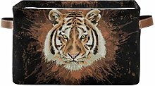 HMZXZ Rxyy Watercolor Animal Tiger Canvas Fabric
