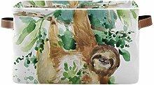 HMZXZ Rxyy Watercolor Funny Sloth Canvas Fabric