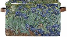 HMZXZ Rxyy Watercolor Van Gogh Iris Flower Canvas