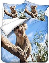 HNHDDZ 3D Animal Bedding Set Dolphin Butterfly