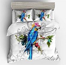 HNHDDZ Bedding set 3D Animal Parrot Toucan Peacock
