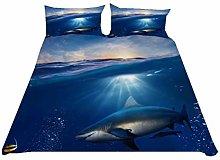 HNHDDZ Bedding Set Home Bedroom Duvet Cover Ocean