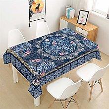 HNHDDZ Mandala Tablecloth Red Blue Brown Yellow