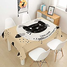 HNHDDZ Rectangular Tablecloth Waterproof, Abstract