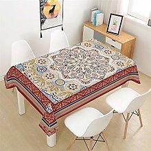 HNHDDZ Tablecloth Black White Beige Boho Style