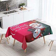 HNHDDZ Xmas Tablecloth Christmas Red Festive