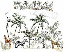 HNHDDZ Young Girl Bedding set Tropical Jungle