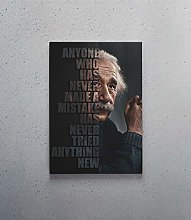 HNTHBZ Canvas Painting Albert Einstein Poster