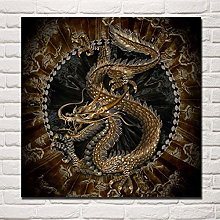 HNTHBZ Canvas Painting Artwork Chinese Dragon HD