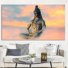 HNTHBZ Canvas Painting HD Print Indian Art