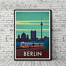 HNTHBZ Canvas Painting Vintage Travel Poster