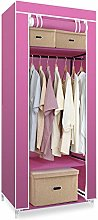 Hododou Single Canvas Wardrobe Portable Wardrobe