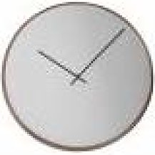 HoF Living Circular Mirror Clock - Polished Nickel