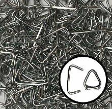 Hog Ring Clips 1kg Bulk Pack Zinc Plated Sharp