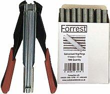 Hog ring tool + 1000QTY Forrest® Hog rings Auto