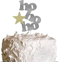 HoHoHo Christmas Cake Topper with Star - Christmas
