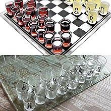 HoitoDeals Novelty Glass Chess Set Small Shot