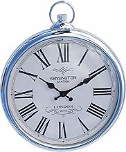 HoitoDeals Silver Pocket Watch Wall Clock For Home