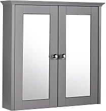 Holborn 2-Door Mirrored Bathroom Cabinet 650mm H x